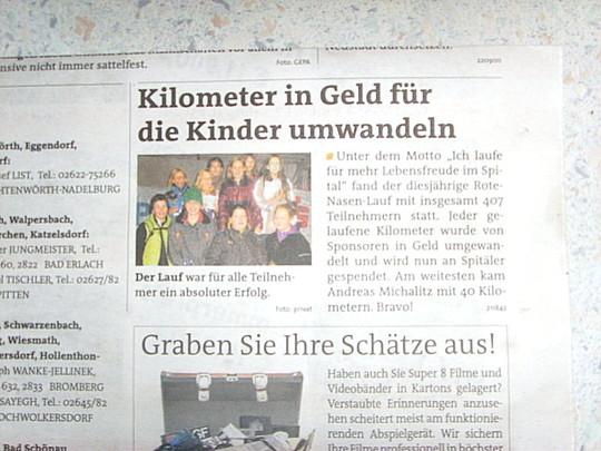 Bericht Bezirksblatt (Rote Nasen Lauf 2012)