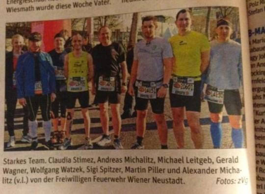Bericht NÖN (VCM 2013) Wien Marathon