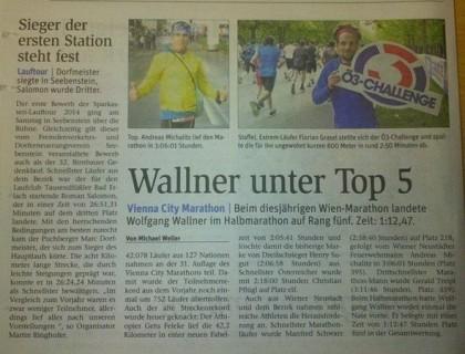 Vienna City Marathon 2014 NÖN Bericht