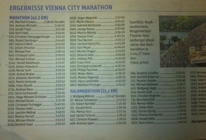 Vienna City Marathon 2014 NÖN